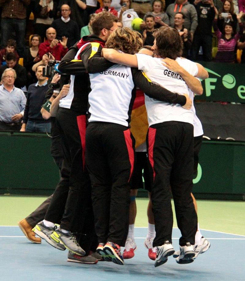 Alegría del equipo alemán