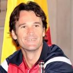 Foto Carlos Moyá capitán del equipo español