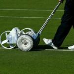 Cortando el césped en Wimbledon