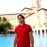©Art Seitz. David Ferrer en el hotel Biltmore Miami