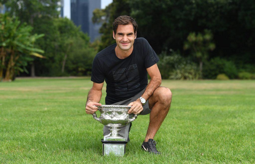 Federer R en el parque Melbourne 2018 02