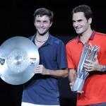 Foto Roger Federer y Gilles Simon