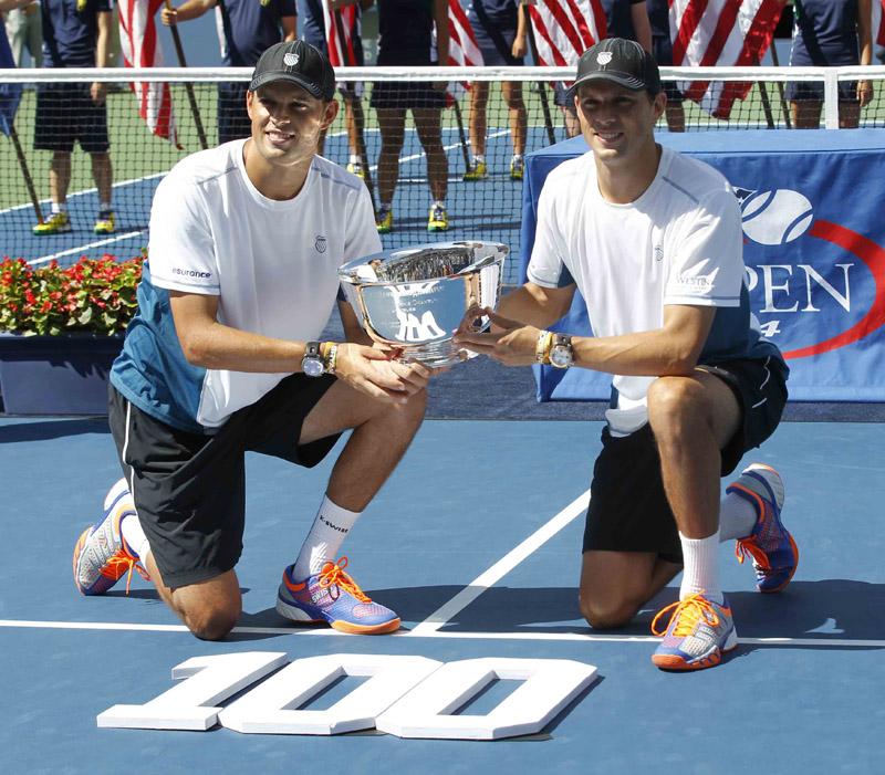 Hnos bryan campeones US Open 2014 y titulo 100 01 b