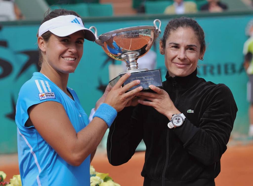 Las tenistas Virginia Ruano y Anabel Medina