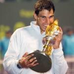 Nadal con trofeo Doha 2014