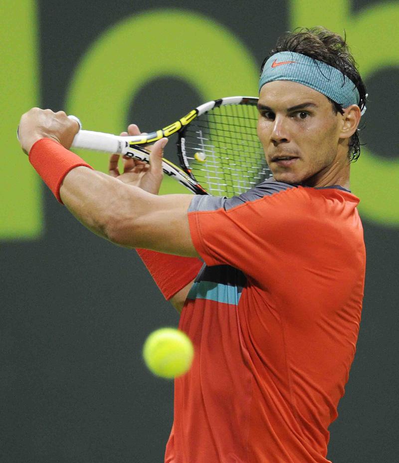 Nadal y otro golpe muy suyo Doha 2014 01 b