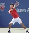 Foto Kei Nishikori en el Us Open 2014