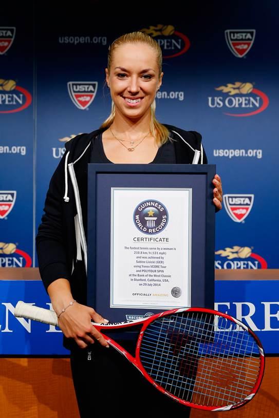 Foto de Record Guinness de Sabine Lisicki