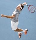 Foto Roger Federer con su nueva Wilson