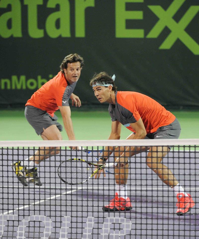 Roig y Nadal en acción Doha 2014 01 b