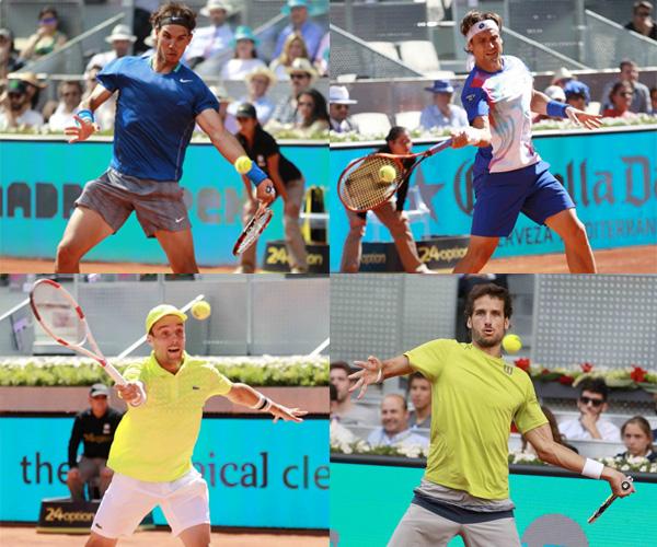 cuatro españoles en cuartos de final de madrid
