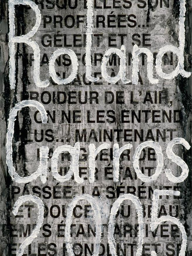 El cartel de Roland Garros en 2005