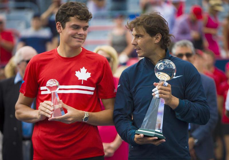 Rafa Nadal y Raonic en Montreal
