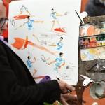 Pintor en Roland Garros