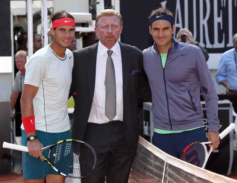 ATPRoma2013-FotoNadal-Becker-Federer
