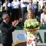 Chris Evert y Jean Gachassin