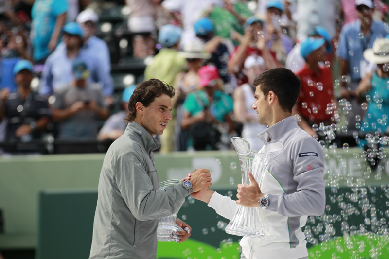 Tras la final, Nadal se despide Djokovic