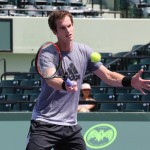 MIAMI FLORIDA 17MAR2014 SONY OPEN TENNIS, ANDY MURRAY VOLLEY DURING PRACTICE