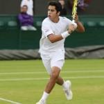 El Junior español Jaime Munar en Wimbledon