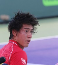 MIAMI, FLORIDA, SONY OPEN 21MAR2014, JAPANESE TENNIS STAR KEI NISHIKORI