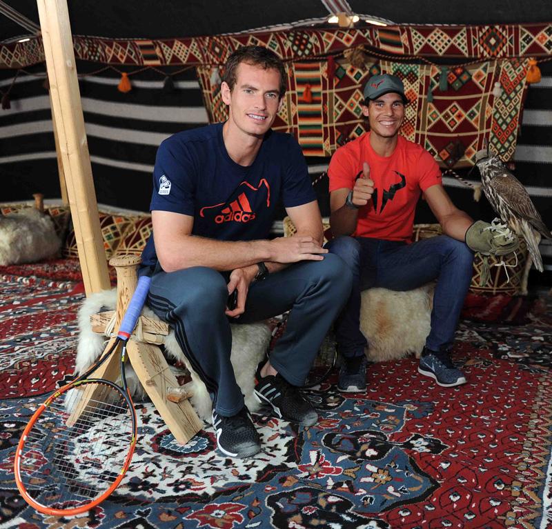 Nadal y Murray en Doha 2014 01 b