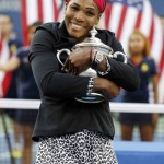 Foto Serena Williams con su tesoro
