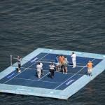 Foto de Los jugadores en la Pista flotante
