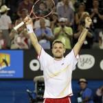 Foto Wawrinka - Open-Australia- Jueves 23-01-2014